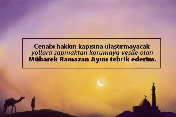 En güzel hoşgeldin ramazan sözleri